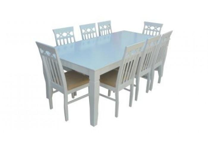 طاولات طعام ابيض