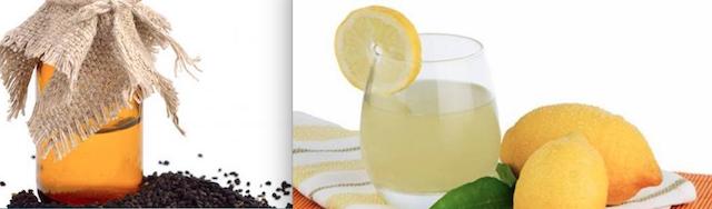 حبة البركة وعصير الليمون