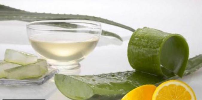 الألوفيرا وعصير الليمون
