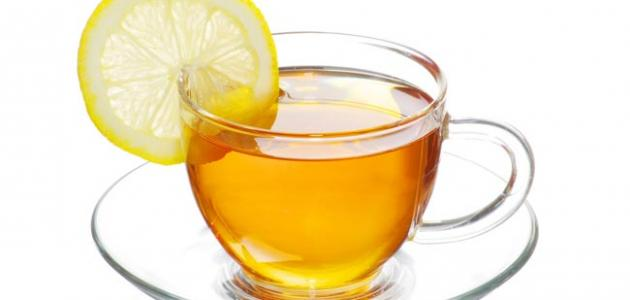 الشاي الأخضر والليمون