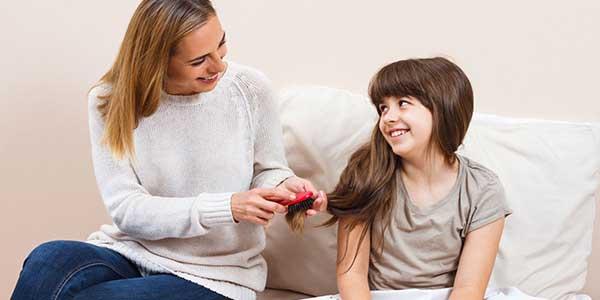 علاج تقصف الشعر للاطفال