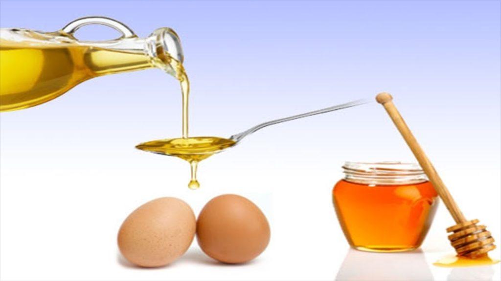 زيت الزيتون والبيض والعسل