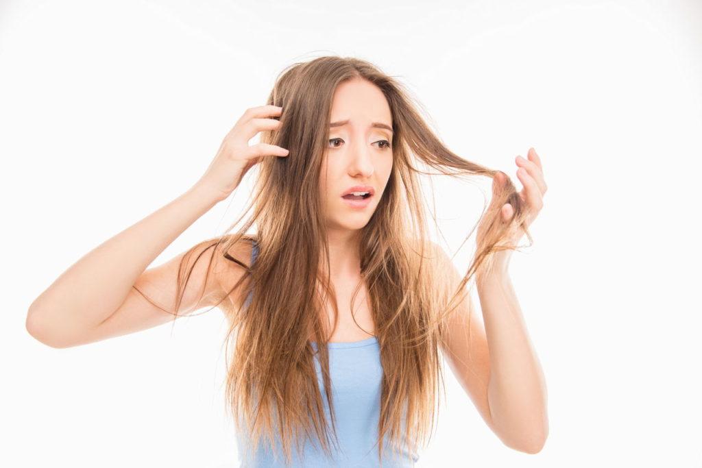 علاج تقصف الشعر الشديد بدون قص