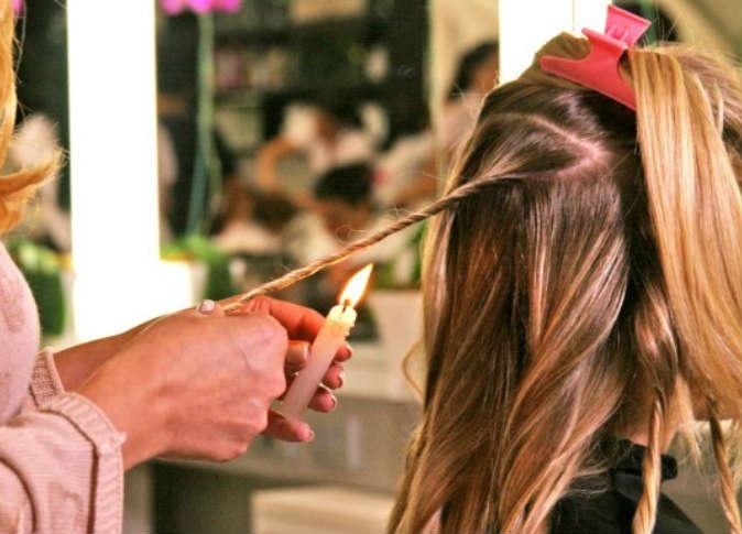 علاج تقصف الشعر بالشمع