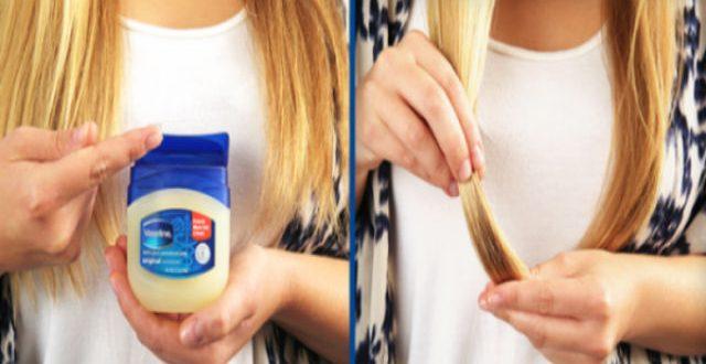 علاج تقصف الشعر بالفازلين