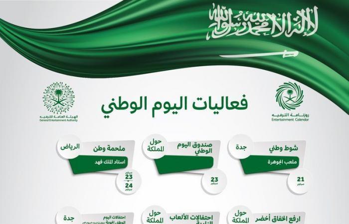 فعاليات اليوم الوطني في السعودية