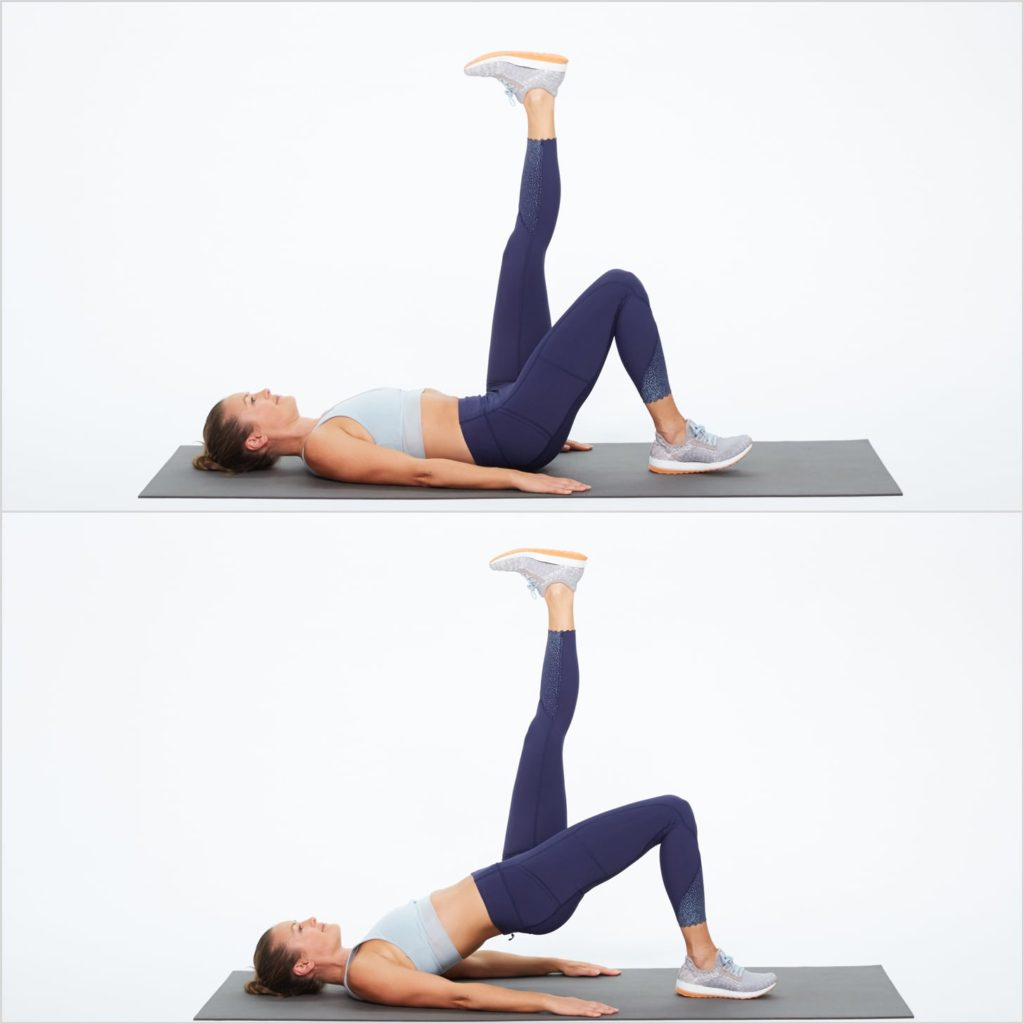 Butt bridge exercise