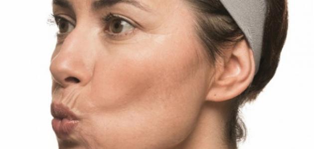 تمرين عضلات الوجه