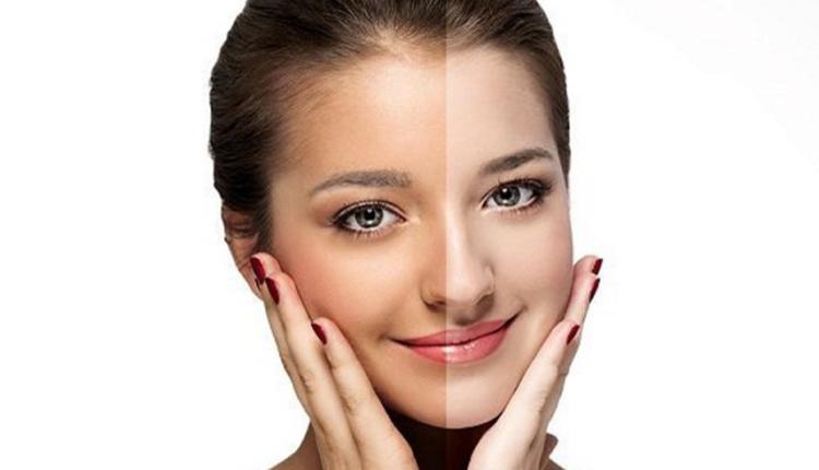 خلطات لتبيض الوجه الدهني