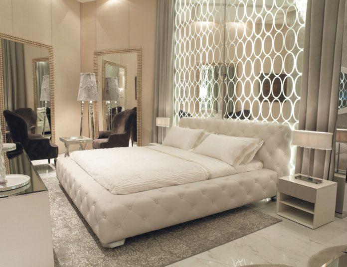 غرف نوم مودرن من اللون الأبيض