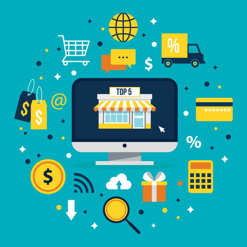 تطبيقات متاجر الكترونيه