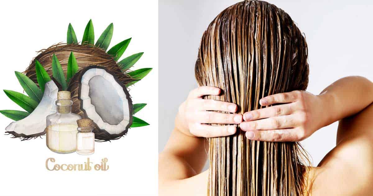 طريقة زيت جوز الهند لتنعيم الشعر